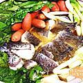 好好吃的柴魚昆布高湯煮尖吻鱸魚鍋│峰漁佳食【黃金尖吻鱸魚】