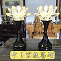 F. 黃金畫與銅器爐具水晶供燈