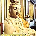 L35.神桌佛像雕刻自在觀音木雕神像 神明貼座
