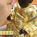 K23.黑面媽祖神像整修貼金箔~斷指接合處裡