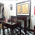 N286.日式佛桌 4尺2雞翅木神桌 半浮雕觀音聯