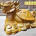 L57.龍龜木雕藝品 樟木材質製作
