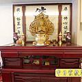 N293.神明廳設計 4尺2櫃型神桌 蓮花佛字神聯