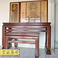 N297.鹿港型佛桌 7尺神桌後貼設計 實木仿3D雷射雕刻木雕神明聯