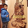 A129.玄關牆面設計 關公像實木雕刻 關聖帝君雕刻