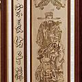 A139.七尺神桌神明聯 五合三片式木雕觀音佛桌佛聯