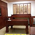N313.七尺佛堂佛桌神桌 西方三聖木雕佛像佛聯