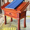 M181.讀經桌 讀經架 花梨木經書桌 可調式讀經桌
