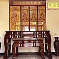 N326.七尺拉米神桌 三清道祖影刻木雕佛聯