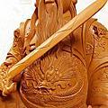 L68.北極玄天上帝梢楠木神像雕刻