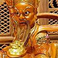 L69.武財神木雕 八路財神雕刻 一尺六武財神趙公明