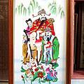 E165.二尺寬三尺半高手繪福祿壽綢布畫