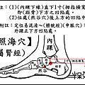 照海穴(屬腎經)