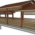 水鄉風情    膠合集成材木橋屋
