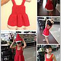 彩紅圈洋裝