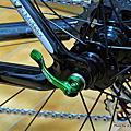 [車體]Team RIDEA 客製化綠色3D-type 強化版鈦軸快拆