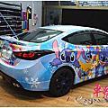 HYUNDAI ELANTRA 史迪奇 STITCH 全車改色車身彩貼