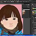 illustrator 插畫 小女生描圖