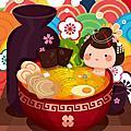 illustrator 插畫 日式料理