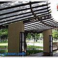 庭園車庫採光晴雨棚