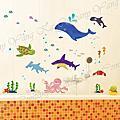 水族魚類壁貼