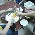 姐妹的聚會--蛋黃酥的製作