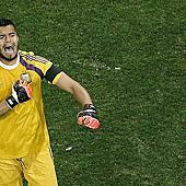 Romero撲球後激動慶賀