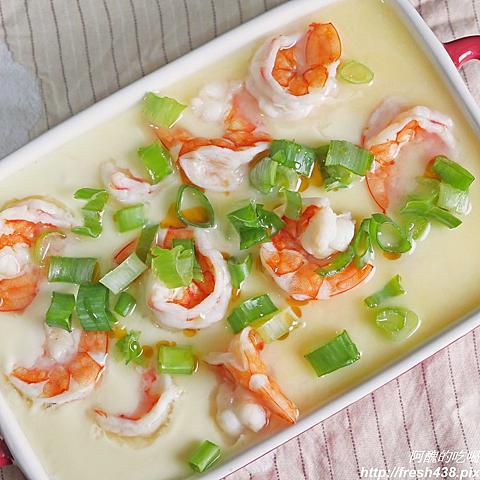 【電鍋料理】鮮蝦豆腐蒸蛋,入口即化,一指神功搞定,不流汗就能出宴客菜!