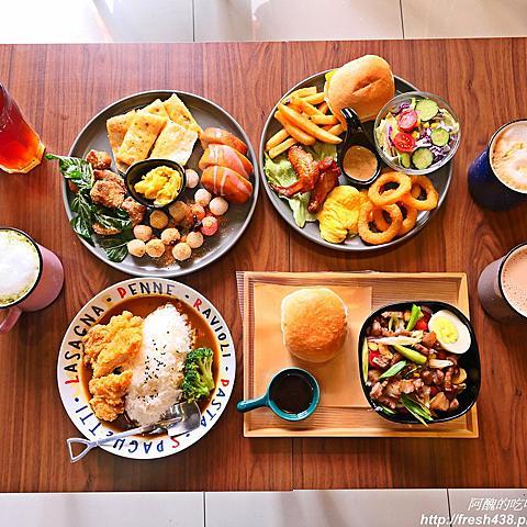 【桃園美食】日青早午餐,創意中西式拼盤,讓您早餐吃得到鹹酥雞、炸湯圓。