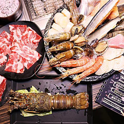 雲林美食-禁の地燒烤 新開幕!! 野生龍蝦丨南極雪蟹 頂級嚴選日式燒肉吃到飽
