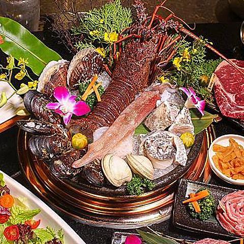 [高雄燒肉推薦]明燒肉 日本A5冷藏和牛、野生龍蝦 豪華活物海鮮 現撈活物 高雄深夜約會餐廳 高雄宵夜燒肉