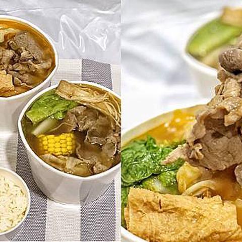 新北中和美食|小石鍋|百元外帶小火鍋 肉多味美還送一瓶飲料超值美食 內附菜單