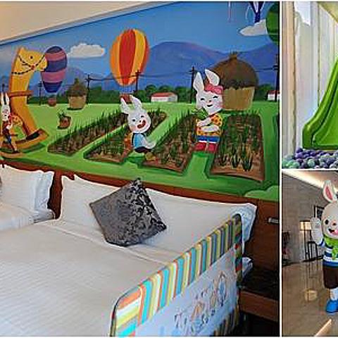 宜蘭親子飯店推薦悅川酒店。親子彩繪房、多樣兒童遊戲區、小火車
