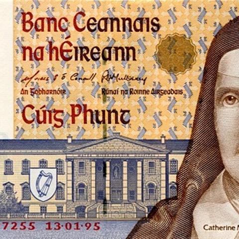 不願被英國統治的國度,綠色小精靈的貨幣,愛爾蘭鎊!