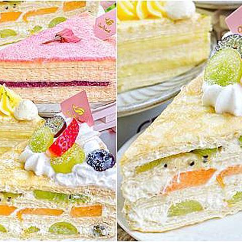 太想念「日本HARBS」...跑來吃「藍帶主廚」做的「水果千層」過過癮!母親節蛋糕」粉嫩到不行!現在還有85折!(文中附