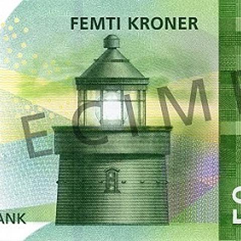 我把海洋印在紙鈔上了!挪威克郎世界最美的鈔票之一!