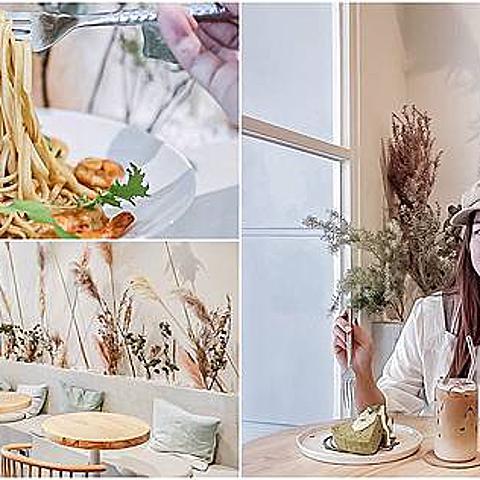 桃園平鎮美食-禾曼咖啡Human Human Cafe-夢幻浪漫乾燥花池網美風格質感咖啡廳/咖啡 義大利麵 甜點/鄰近蛋
